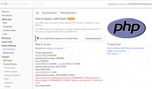 Google Cloud Platform – Your LAMP Stack deployment creation failed