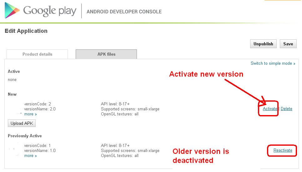 Activate latest version