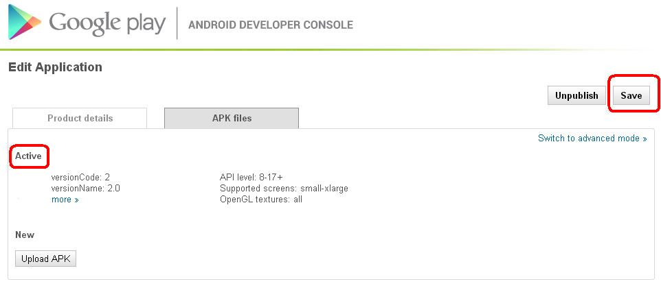 Google play android app update simple mode save - Android console application ...