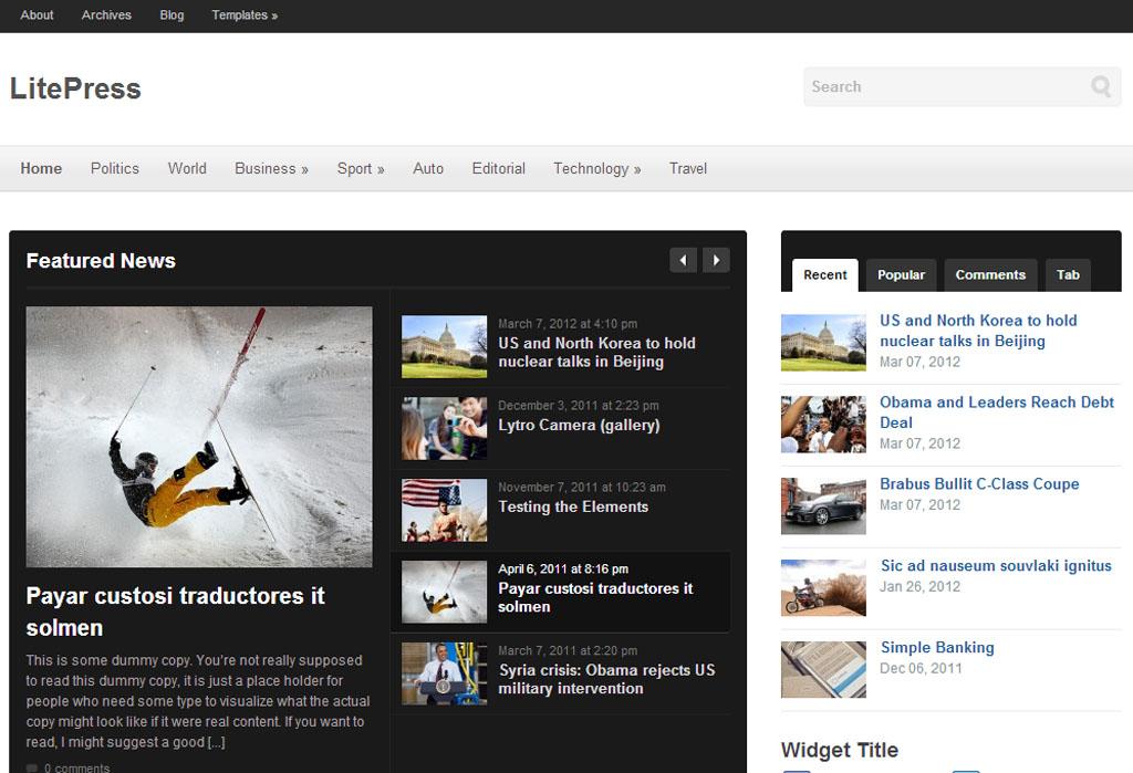 LitePress WordPress Responsive Magazine Theme