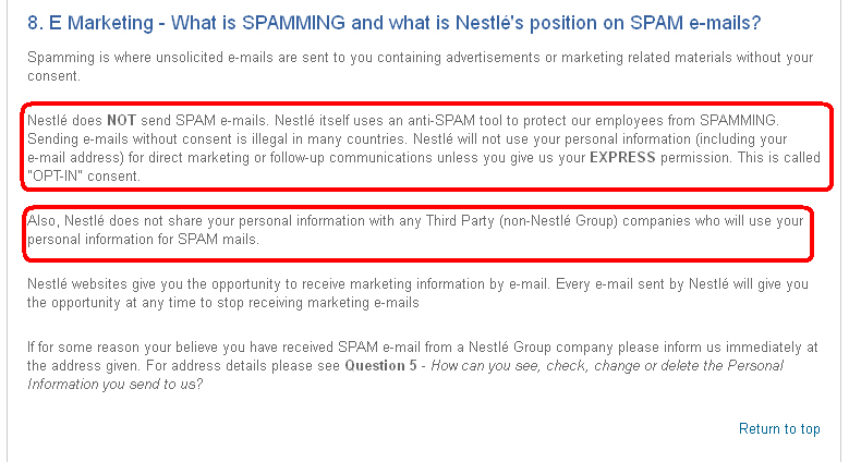 Nestle Privacy Notice