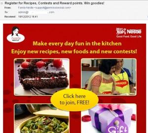 Nestle Sending Spam E-mails