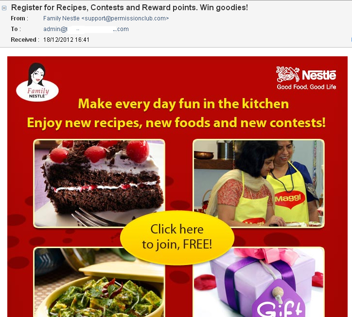 Nestle Spam E-mail