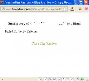 WP-EMail WordPress Plugin – Failed To Verify Referrer