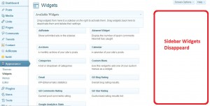 WordPress – Sidebar Widgets Not Showing Up in Admin Panel