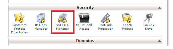 cPanel SSL/TLS Manager