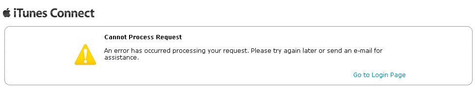 Cannot Process Request An error has occurred processing your request. Please try again later or send an e-mail for assistance.