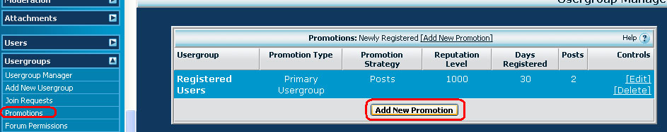 Add new Promotion